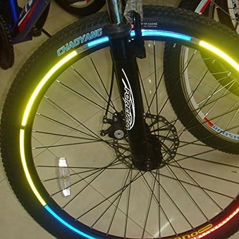 Inovey Bicicleta De La Bici Que Reflejan Material Rueda Llanta Pegatinas Calcomanías: Amazon.es: Hogar