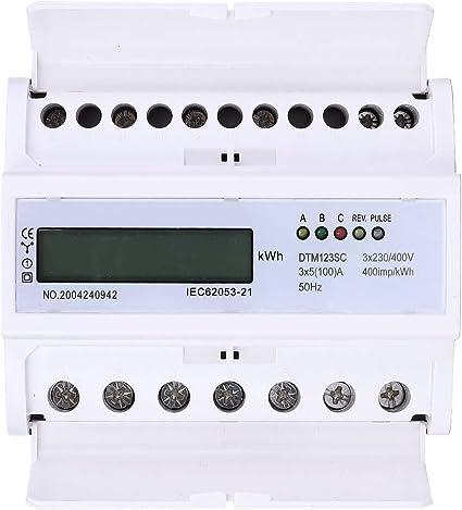 Compteur D/'énergie Electrique Compteur Puissance Electronique Triphasé DTM123SC