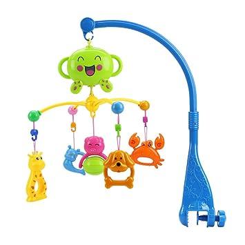 BOBORA Espiral Musical Juguetes Colgar para Carro de Bebé, Sonajeros Bebé de Forma de Animal, Juguetes Musicales para Bebé Infantil (Azul): Amazon.es: ...