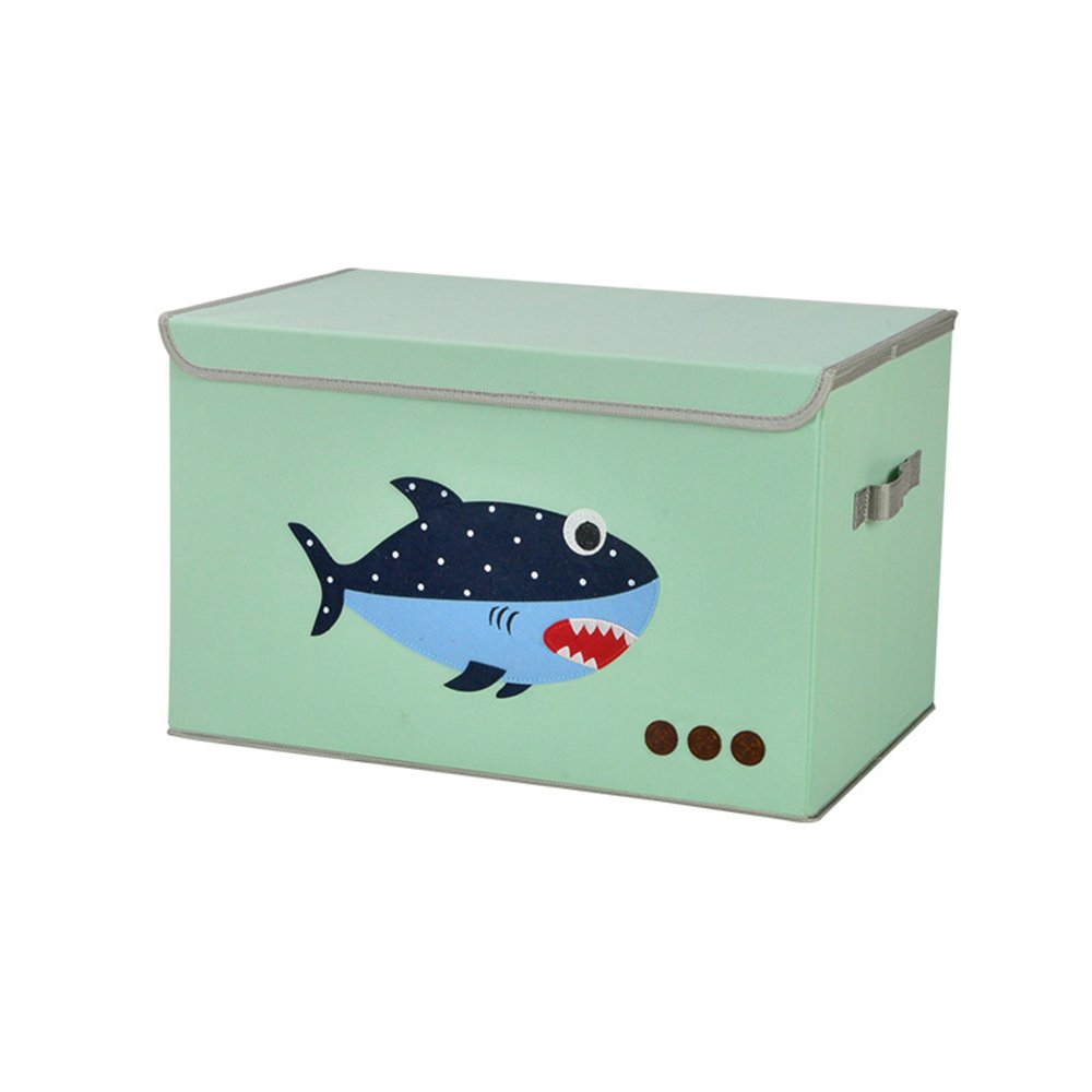 MOCOFO Toy Chest,Storage Bins Extra Large Foldable Cube Box Animal Fabric Collapsible Stackable Hamper Containers Organizer Lid Kids Cloth IKEA Shelves Closet Drawer Removable Dividers19 inch