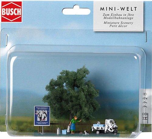 - Busch 7720 Milk Transport Scene HO Scenery Scale Model Scenery