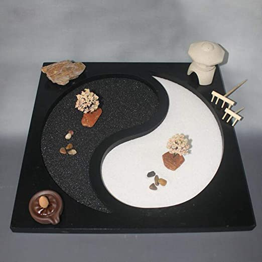 Hjyi Meditación Zen Garden,Jardin Zen Meditación Taiji Chismes Yin ...