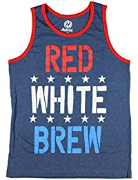 Red White & Brew Beer Graphic Tank Top
