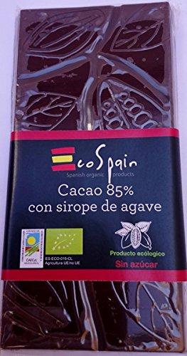 Chocolate negro 85% con sirope de agave. Sin azúcar. Apto para diabéticos. 95 Gr. Producto ecológico: Amazon.es: Alimentación y bebidas
