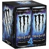 Hansen's Monster Energy Drink, Absolutely Zero, 16-Ounce (Pack of 12)