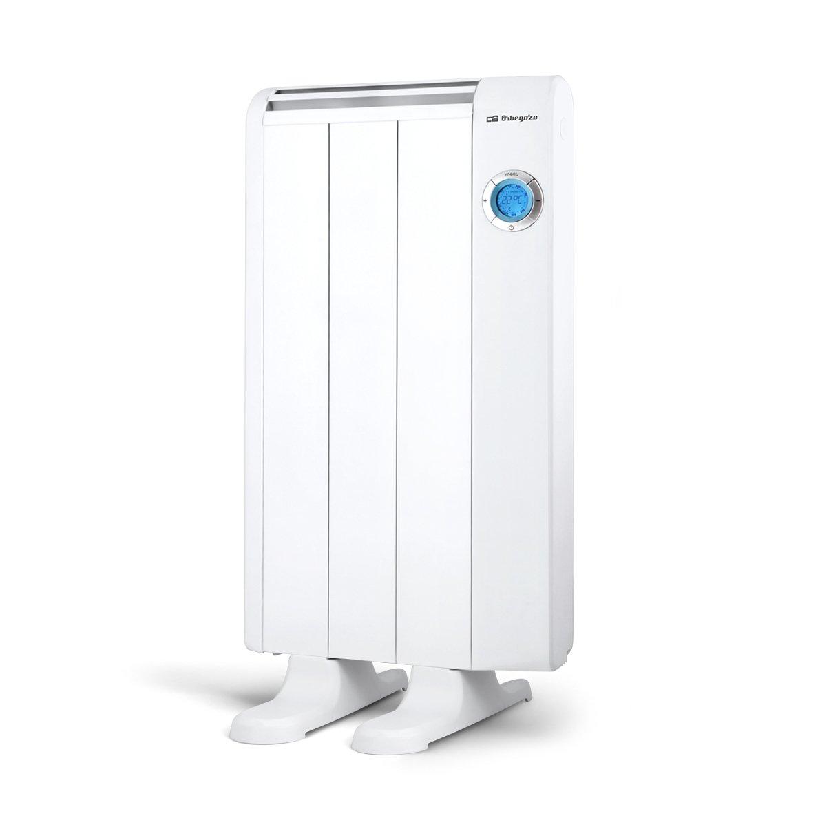 Orbegozo RRE 510 - Emisor térmico bajo consumo, 500 W de potencia, 3 elementos, pantalla digital LCD, mando a distancia y funcionamiento programable: ...
