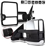 SCITOO fit Chevy GMC Towing Mirrors Chrome Rear View Mirrors fit 2014-2018 Chevy Silverado/GMC Sierra 1500 2015-2018 Chevy Silverado/GMC Sierra2500 HD 3500HD with Power Heated Signal Backup Light