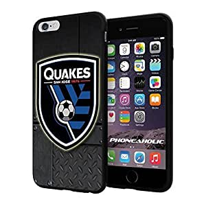 diy zhengSoccer MLS SAN JOSE EARTHQUAKES SOCCER CLUB FOOTBALL FC Logo, Cool iphone 5c Smartphone Case Cover Collector iphone TPU Rubber Case Black