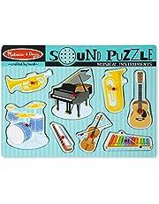 Melissa & Doug Puzzel met geluidseffecten, muziekinstrumenten, puzzels, hout, 2+, cadeau voor jongens of meisjes