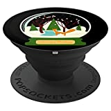 Christmas Gift - Christmas Ball With Fox In The Forest - PopSockets Grip and Stand for Phones and Tablets