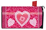 Patchwork Heart Valentines Day Mailbox Cover Holiday Briarwood Lane Standard