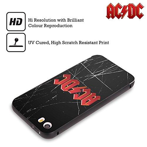 Officiel AC/DC ACDC Rouge Logo Noir Étui Coque Aluminium Bumper Slider pour Apple iPhone 5 / 5s / SE