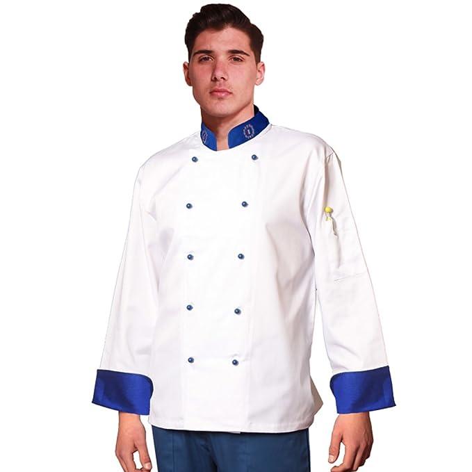TCD GROUP Giacca da Cuoco Chef Europea Colore Bianco  Amazon.it   Abbigliamento 412f7d09e2cd