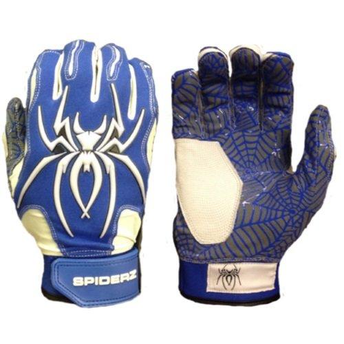 Spiderz大人用ハイブリッドバッティンググローブシリコンWeb Palm B01DOA1NG2 Adult Medium|ロイヤルブルー/ホワイト ロイヤルブルー/ホワイト Adult Medium