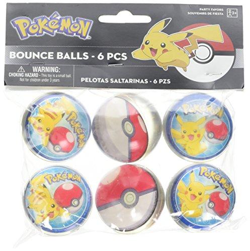 Amscan Pokemon Bounce Balls, Party Favor -