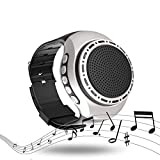 Jinjing Wireless Bluetooth Watch Speaker Sport Wristwatch with Led Mp3 Music Player FM Radio Selfie Anti-Lost for Running Climbing Jogging Cycling Hiking