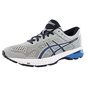 ASICS Men's GT-1000 6 Running-Shoes, Mid Grey/Peacoat/Directoire Blue, 13 2E US