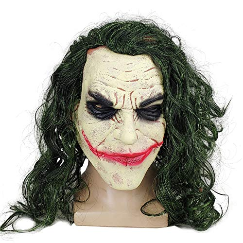 Joker Joaquin Phoenix Realistic Mask, Scary Joker Clown Mask Halloween Mask Cosplay Party Props