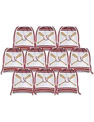 Baseball Star Drawstring Bags Kids Birthday Party Supplies Favor Bags 10 Pack