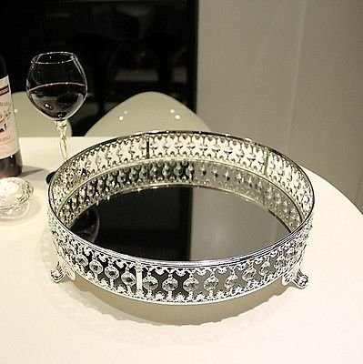 FidgetGear wedding party cake stand crystal Glass iron sliver home decoration from FidgetGear