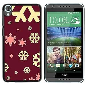 Copo de nieve Castaño Castaño Amarillo Rosa- Metal de aluminio y de plástico duro Caja del teléfono - Negro - HTC Desire 820