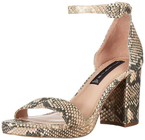 STEVEN by Steve Madden Women's VINO Sandal, Natural Multi, 10 M US