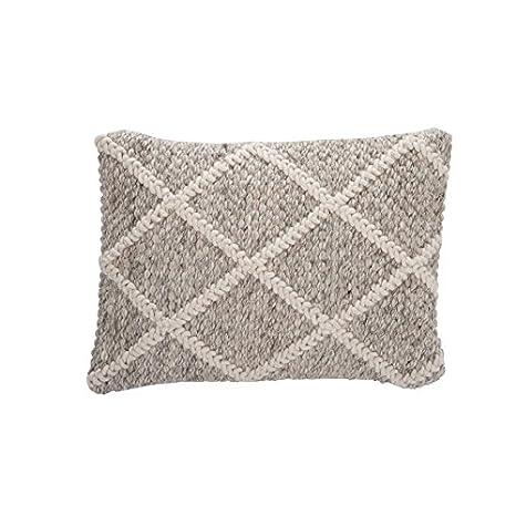 Cojín Quadrille lana bei/color blanco: Amazon.es: Hogar