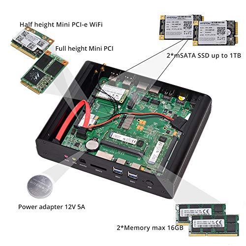 Intel 5ta generación i7 CPU Broad Well NUC, 4K HTPC, Mini PC Fanless, gráficos Intel HD6000, 2HDMI, 2LAN, 4USB3.0, 4USB2.0, Wi-Fi, Bluetooth 4.2, ...