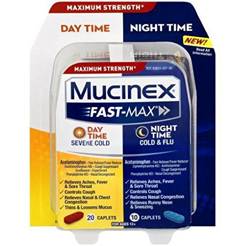 Mucinex Fast-Max Day/Night Severe Cold & Flu Caplets, (Mucinex Nasal Congestion)