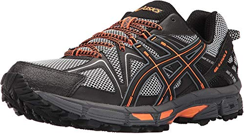 ASICS Mens Gel-Kahana 8 Running Shoe, Black/Classic Red/Phantom, 9 Medium US