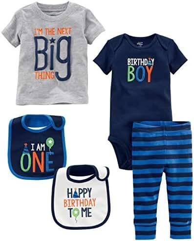 Simple Joys by Carter's Baby Boys' 5-Piece My 1st Birthday Set