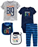 Simple Joys by Carter's Boys' 5-Piecemy 1st Birthday Set, Blue Birthday Boy, 18 Months