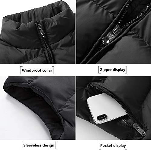 A Alto E Ropa Bodywarmer Mangas De Sin Viento Prueba Hombre Invierno Algodón Para black xl Con Cómodo Chaleco Abrigo Otoño Cuello xBqPtw60U