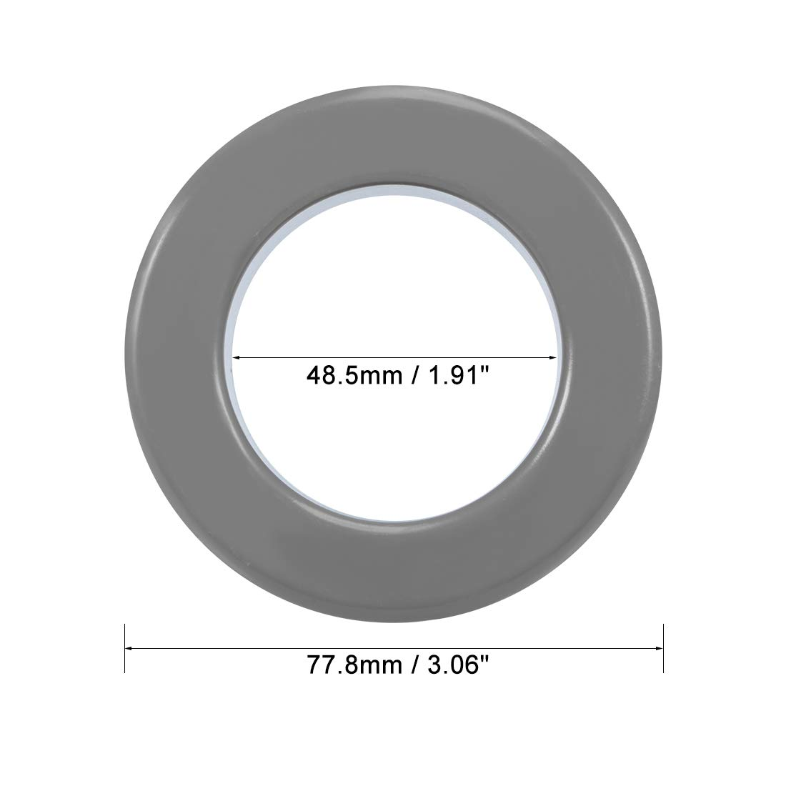 23.5 x 47.3 x 18.5mm Black Ferrite Chokes Ring Iron Powder Inductor Ferrite Rings uxcell Toroid Core