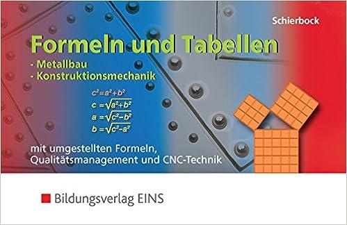 Formeln und Tabellen für metalltechnische Berufe: Formeln und ...