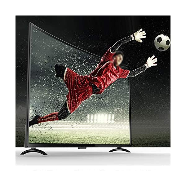 ASHATA Ultra-Thin 4K TV,55inch 3000R Curvature Large Curved Screen Smart 4K WiFi HDR HD TV Television with USB HDMI AV… 4