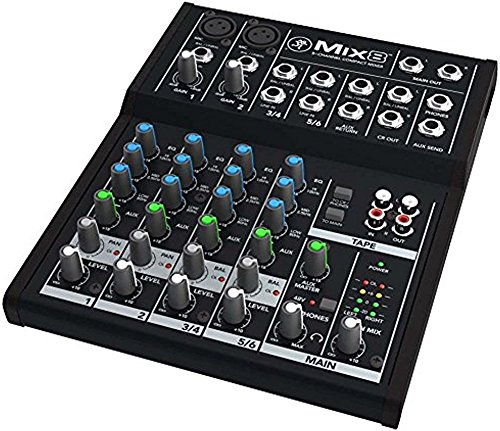 Mackie Mix8 8-channel Compact Mixer with Full Size Studio Headphones and XLR Cable by Mackie (Image #1)
