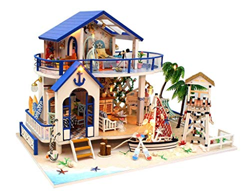 - Rylai 3D Puzzles Wooden Handmade Miniature Dollhouse DIY Kit w/ Light-Legend of The Blue Sea Series Dollhouses Accessories Dolls Houses with Furniture & LED & Music Box Best Xmas Gift