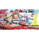 Disney CARS Geo Trax Radiator Springs Mega Race Set w TURBO Remote Control, Sounds & 5 Cars (2009)