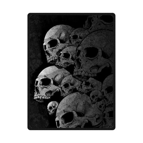Cheap Abstract Skull Art Fleece Throw Blanket with標準サイズ58