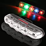 Ultra Bright 5 LED Bike Bicycle Rear Light Waterproof Safety Warning Bicycle Tail Light Back Flashlight Lamp Fit Mountain Bike ,any Road Bike ,7 modes ,Easy to Install