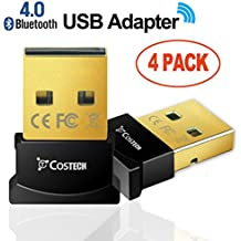 Bluetooth 4.0 USB Adapter, Costech Gold Plated Micro Dongle 33ft/10m Compatible with Windows 10,8.1/8,7,Vista,...
