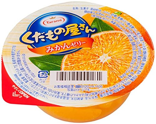 fruter?a piezas de gelatina de mandarina 160gX6 Tarami