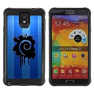 Suave TPU GEL Carcasa Funda Silicona Blando Estuche Caso de protección (para) Samsung Note 3 / CECELL Phone case / / Blue Swirl /