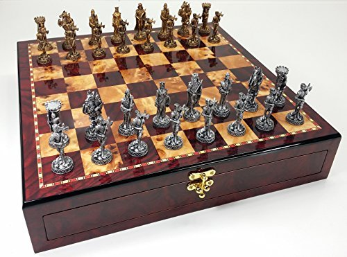 HPL Medieval Times Crusades Knight Pewter Metal Chess Set...