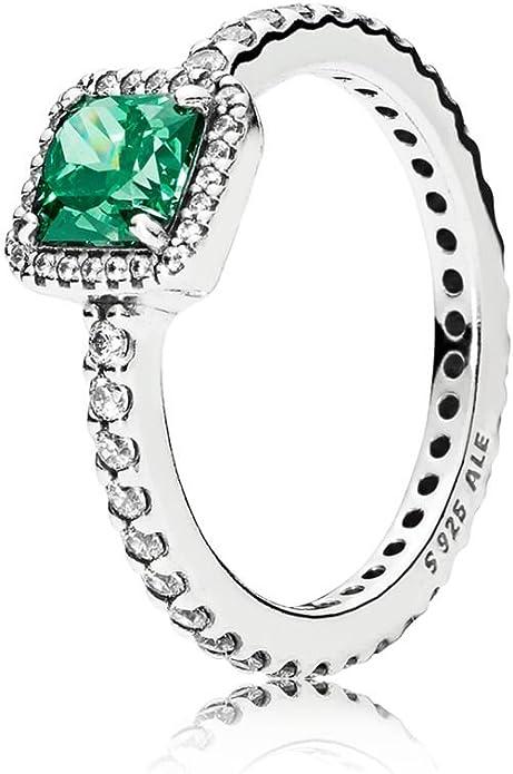 anello pietra verde pandora