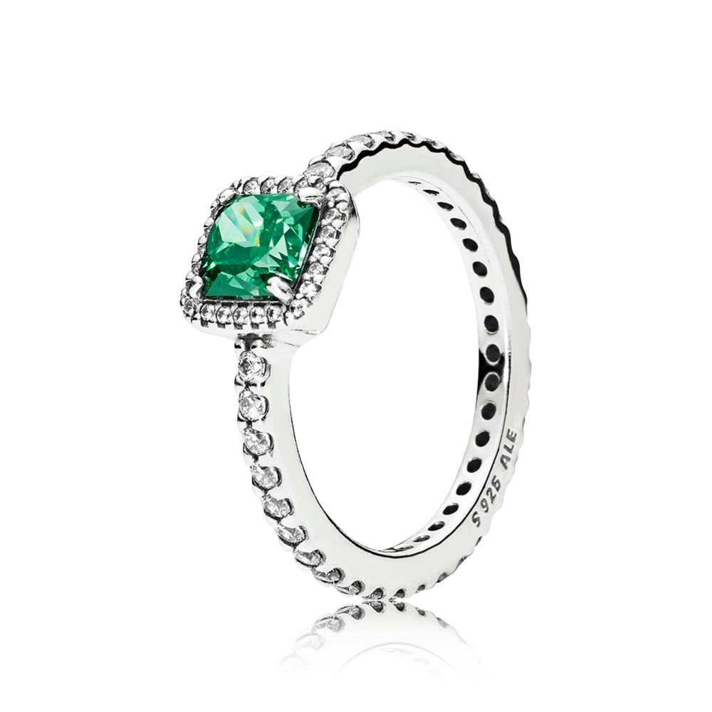 640e6c00b Amazon.com: PANDORA Timeless Elegance Ring, Green & Clear CZ 190947GCZ-60  EU 9 US: Jewelry