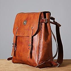 63019664d4f8e Bag erste Original s Schulter Tasche Männer Schicht aus Leder retro  Freizeitrucksack handgefertigte wischen Kunst jugendrucksack Männlich