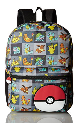 Pokemon Boys Multi Character Checker Print 17 Backpack