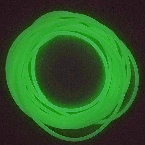 JSHANMEI 5M Luminous Tube Deep Sea Fishing Soft Plastic Fishing Angling Glow Tubing Tool Attract Fish